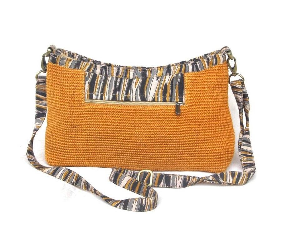 Leaf & Fiber 'Diya' Eco-Friendly Satchel Bag - Honey