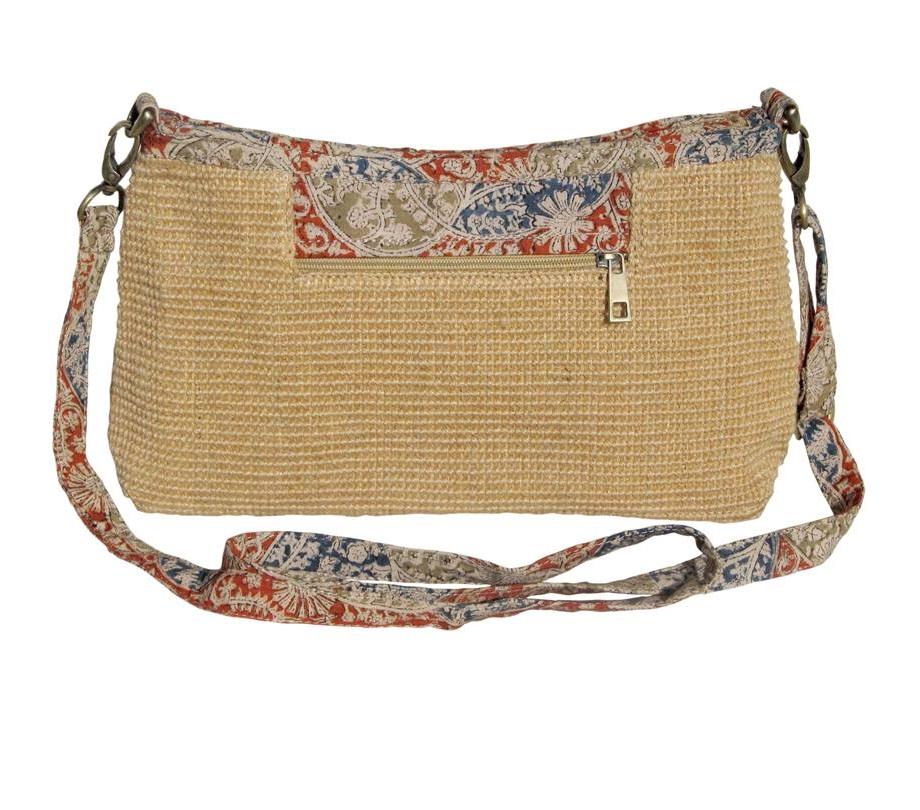 Leaf & Fiber 'Diya' Eco-Friendly Satchel Bag - Natural