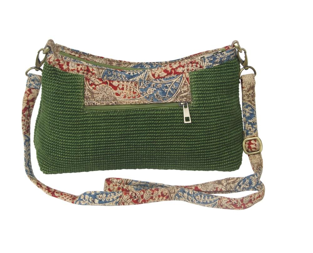 Leaf & Fiber 'Diya' Eco-Friendly Satchel Bag - Olive Green