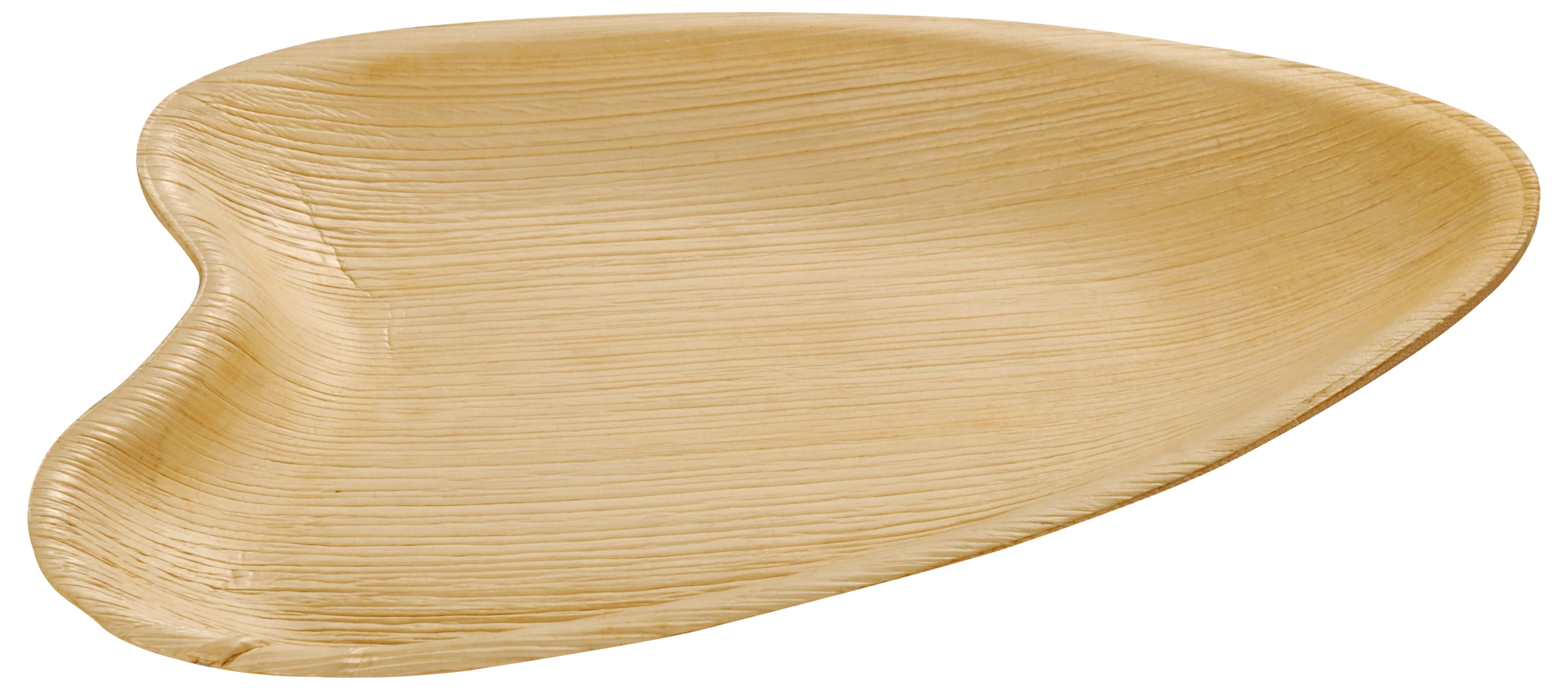 "Leaf & Fiber 100% Compostable, Sustainable and All Natural Palm Leaf Dinnerware, 10"" x 6"" Oval, 100 Count"