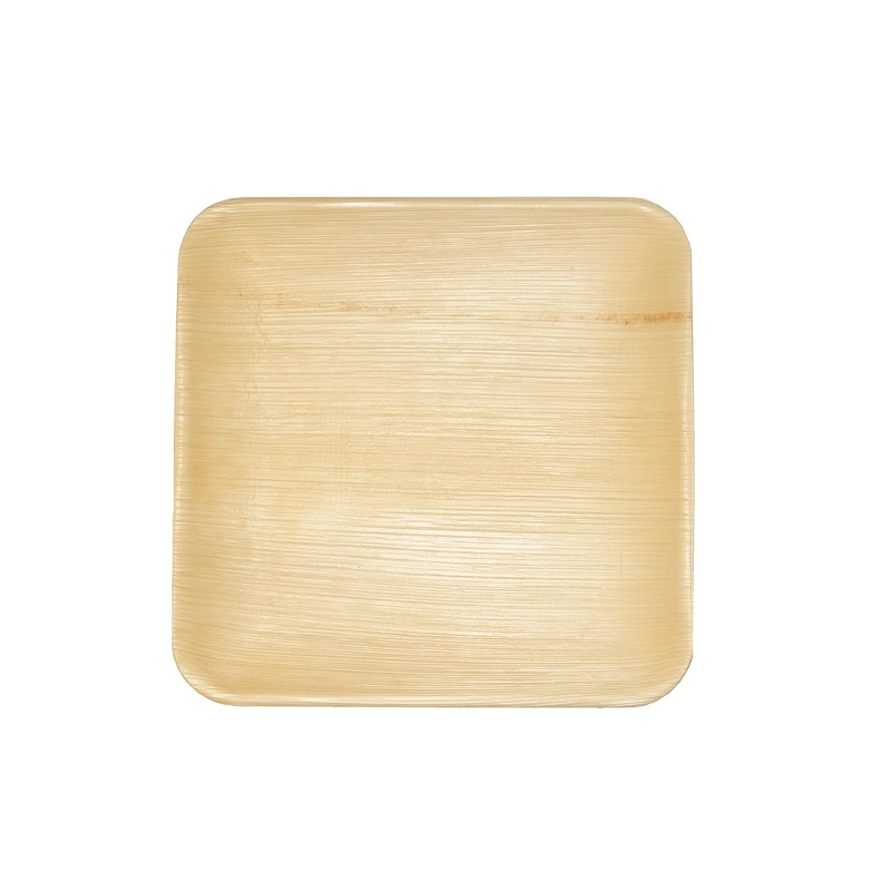 Leaf & Fiber Elegant, 100% Compostable and Sustainable Fallen Palm Leaf Plates, 6-Inch Square, 100 Count
