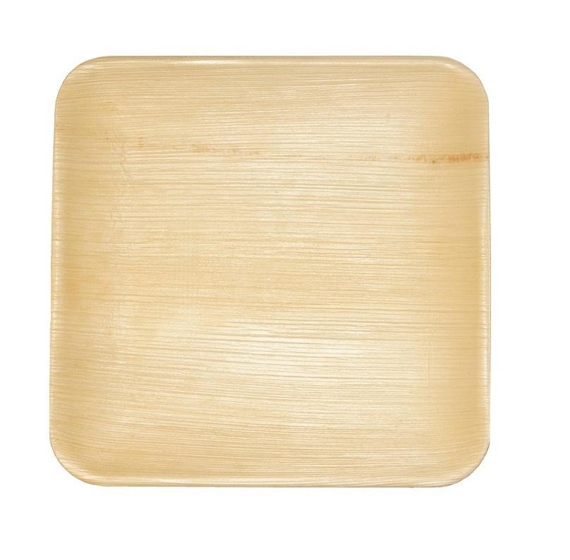 Leaf & Fiber 100% Compostable, Eco-Friendly Palm Leaf Tableware, 8-Inch Square, 100 Count