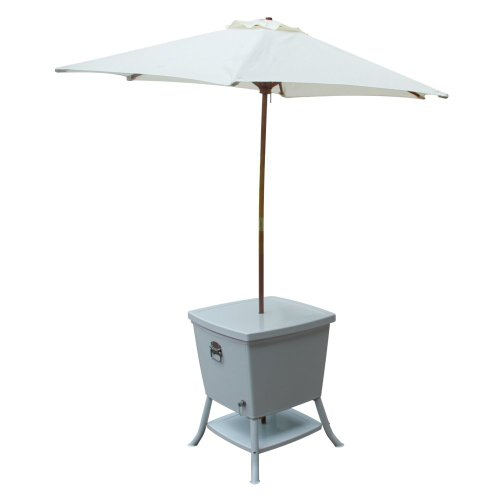 Cooler Table With Umbrella