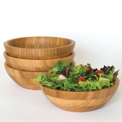 """Bamboo Set 4  7"""" Bowls"""