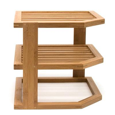 Bamboo 3 Tier Corner Shelf