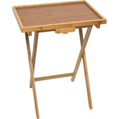 Set 2 Snack Tables Bamboo