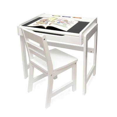 Childs Desk and Chair Set White