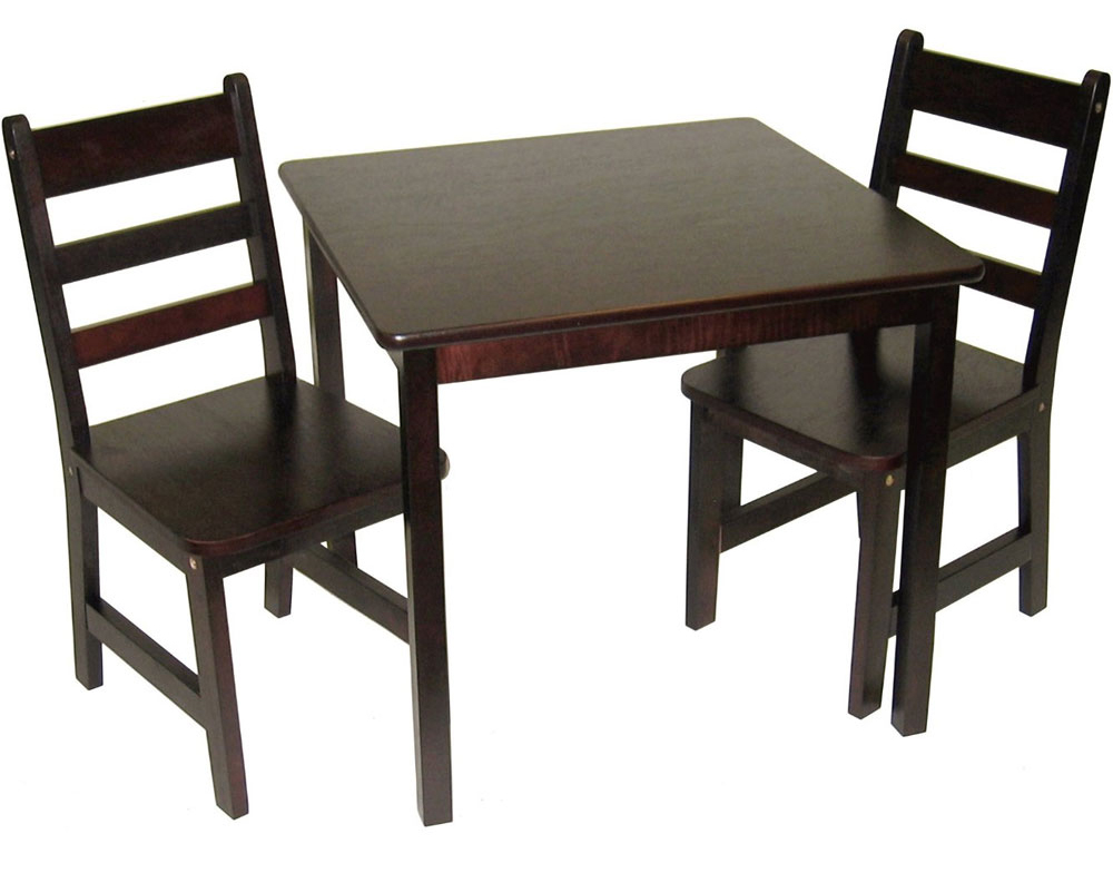 Child's Table Chair Set Espresso