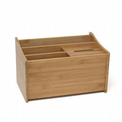 Bamboo Desk Org w Tissue Box
