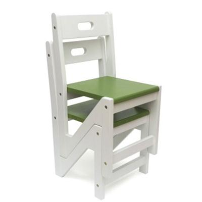 Kid ZigZag Chairs 2pk Green