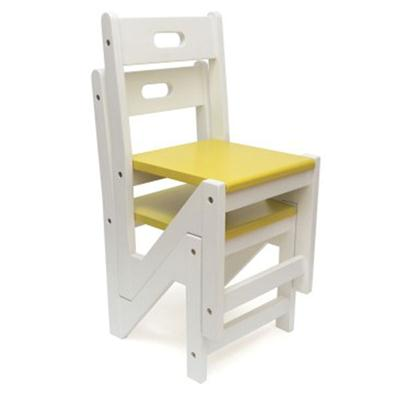 Kid ZigZag Chairs 2pk Yellow