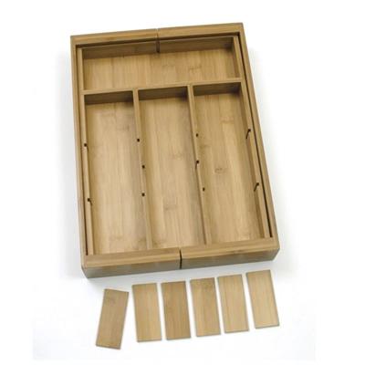 Bamboo Drawer Organizer 6pc