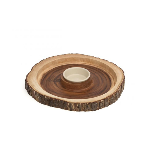 Acacia Bark Chip Dip Platter