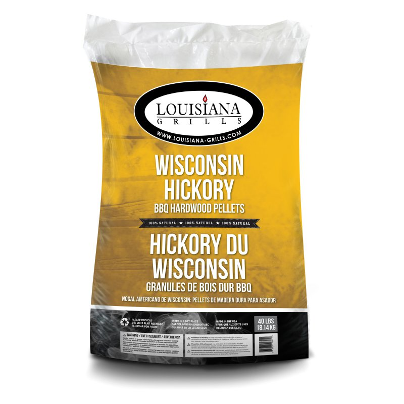 Louisiana Grills 40lb Bag Wisc Hickory  Pellets