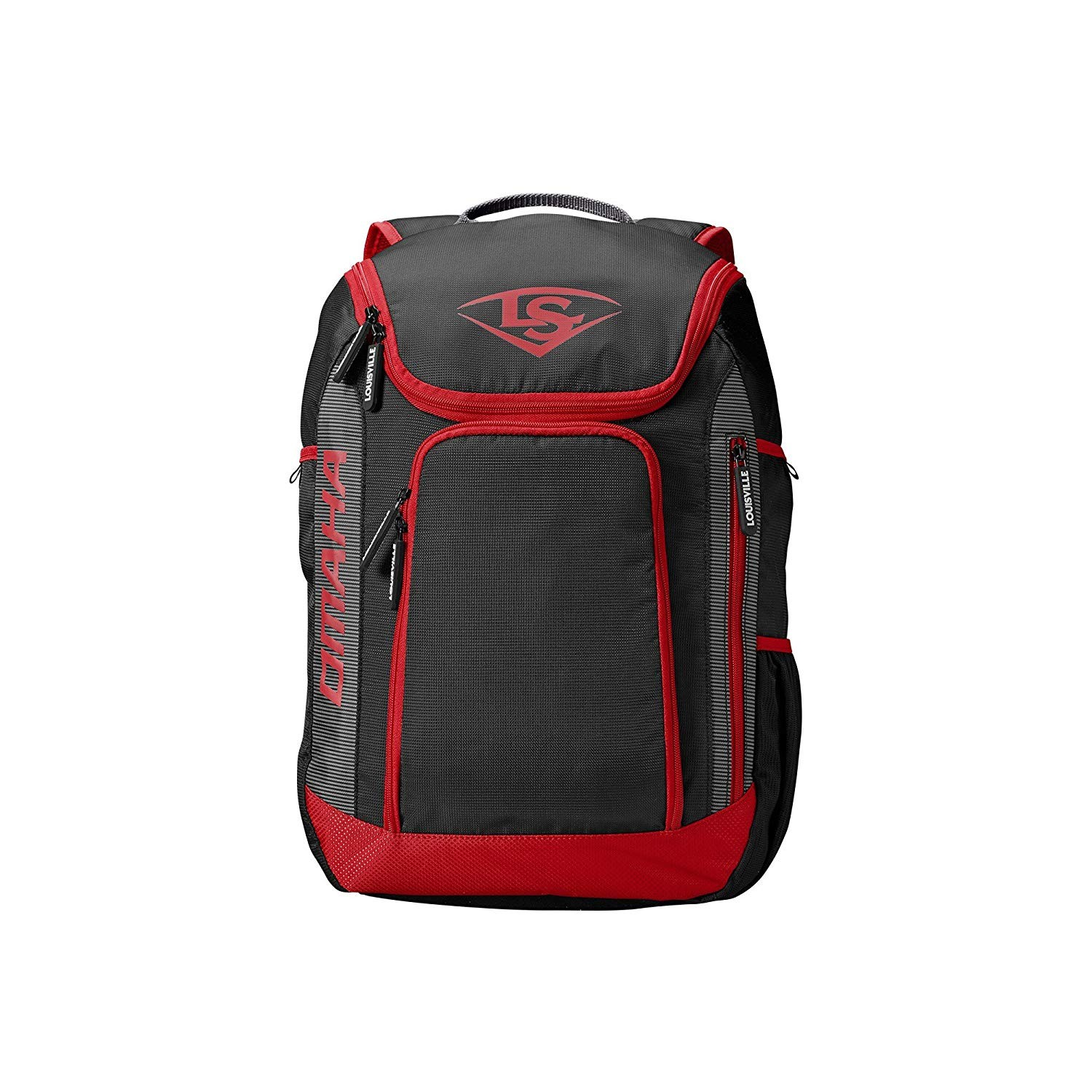 Louisville Slugger Omaha Stick Baseball Backpack Scarlet