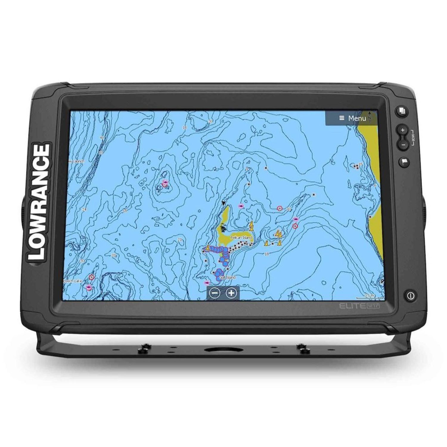 Lowrance Elite-12 Ti2 C-MAP HDI A I Transducers Y Cable