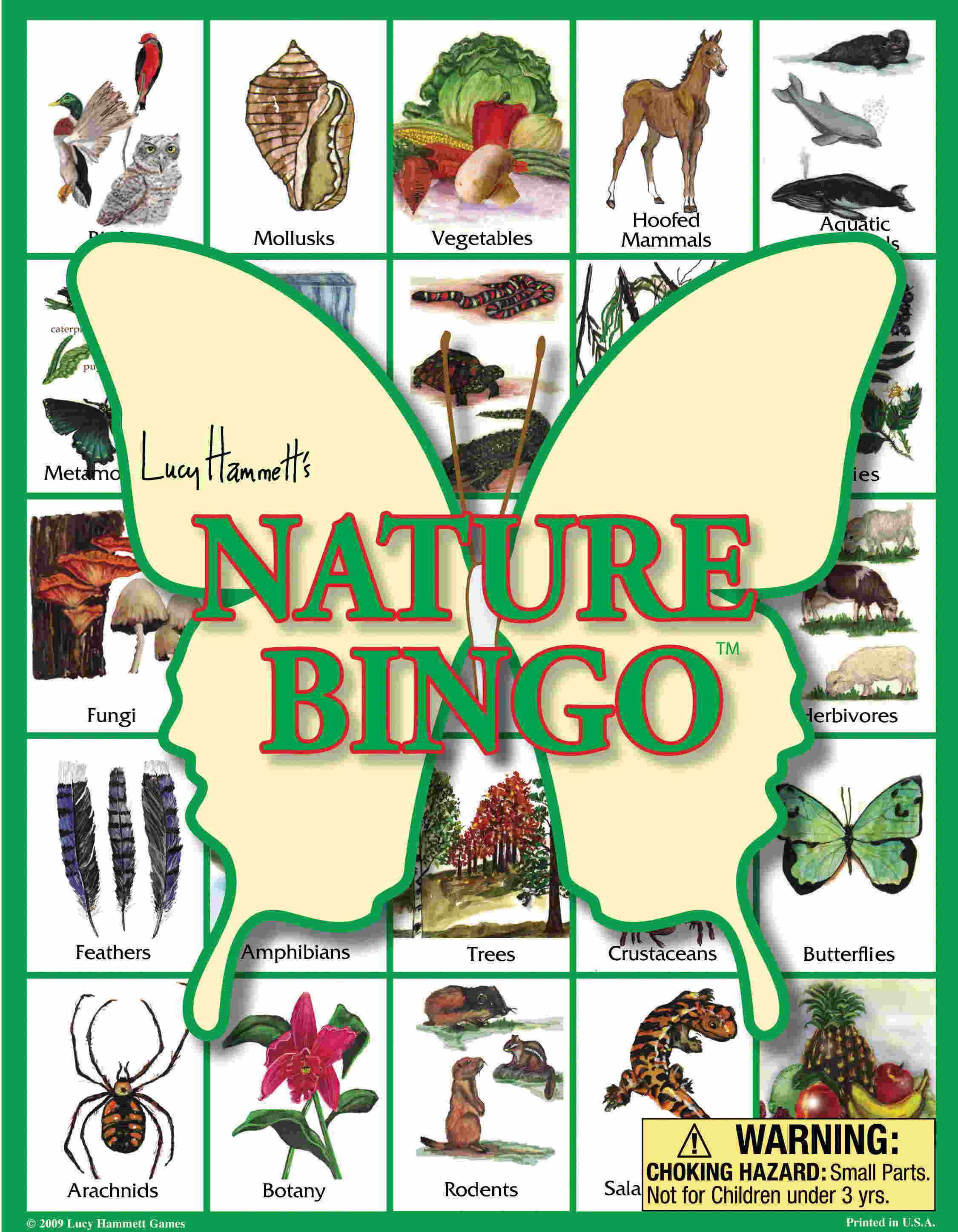 Nature Bingo Board Game