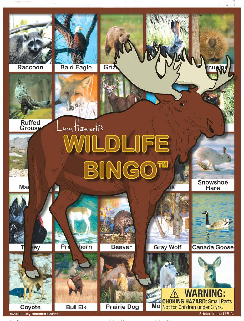 Wildlife Bingo Board Game