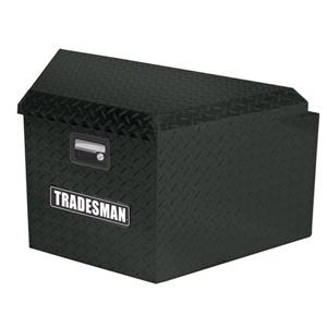 16IN TRAILER TONGUE BOX, ALUMINUM, BLACK