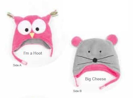 Owl/Mouse Reversible Kid's Winter Hat Large