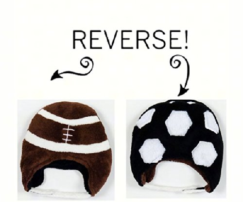 Football/Soccer Reversible Kid's Winter Hat Small