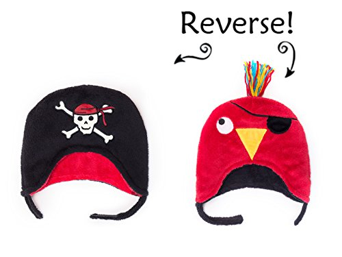 Pirate/Parrot Reversible Kid's Winter Hat Small