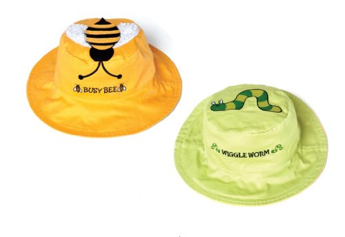 Bee/Worm Reversible Kids' Hat Medium