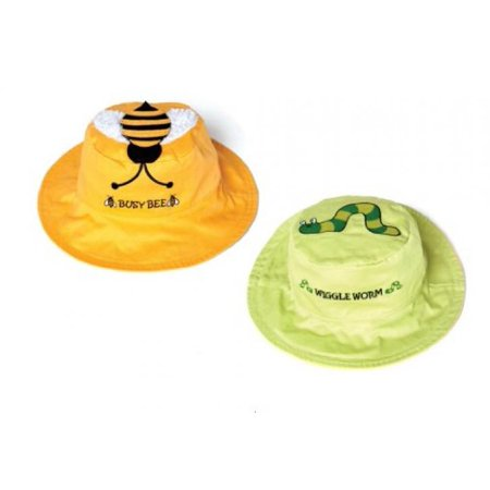 Bee/Worm Reversible Kids' Hat Small