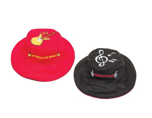Guitar Treble Cleff Reversible Kids' Hat Small