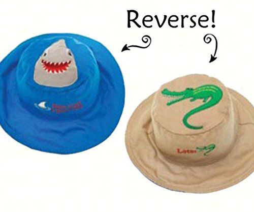 Shark/Alligator Reversible Kids Hat Large
