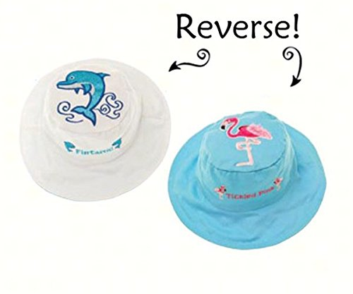 Dolphin/Flamingo Reversible Kids Hat Medium