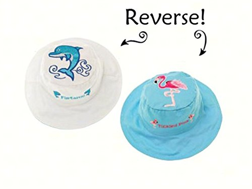 Dolphin/Flamingo Reversible Kids Hat Small