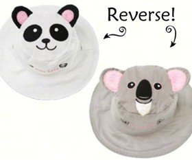 Panda/Koala Reversible Kids' Hat Small