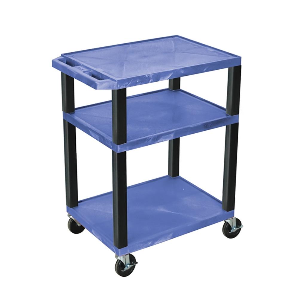 "Luxor Blue Multipurpose Tuffy Cart 34"" with Black Legs"