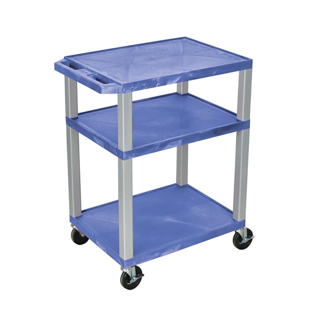 "Luxor Blue Multipurpose Tuffy Cart 34"" with Gray Legs"