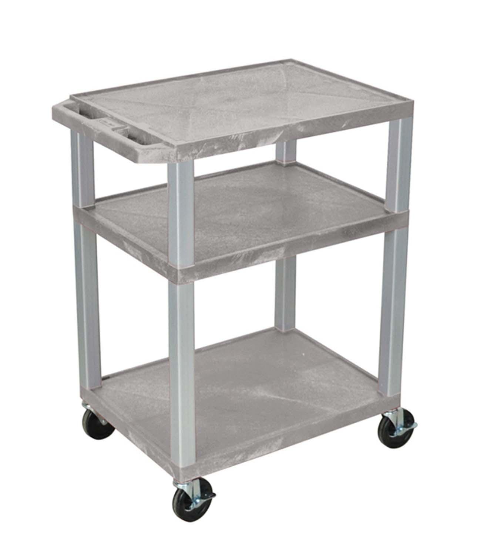 "Luxor Gray Multipurpose Tuffy Cart 34"" with Gray Legs"