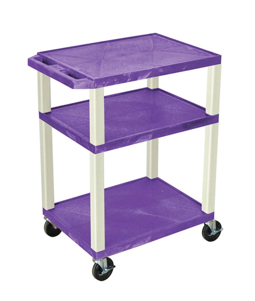 "Luxor Purple Multipurpose Tuffy Cart 34"" with Putty Legs"