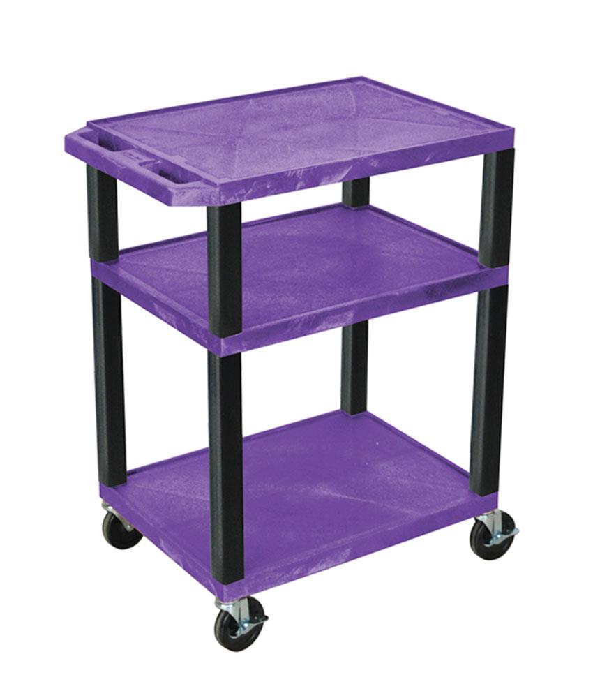 "Luxor Purple Multipurpose Tuffy Cart 34"" with Black Legs"