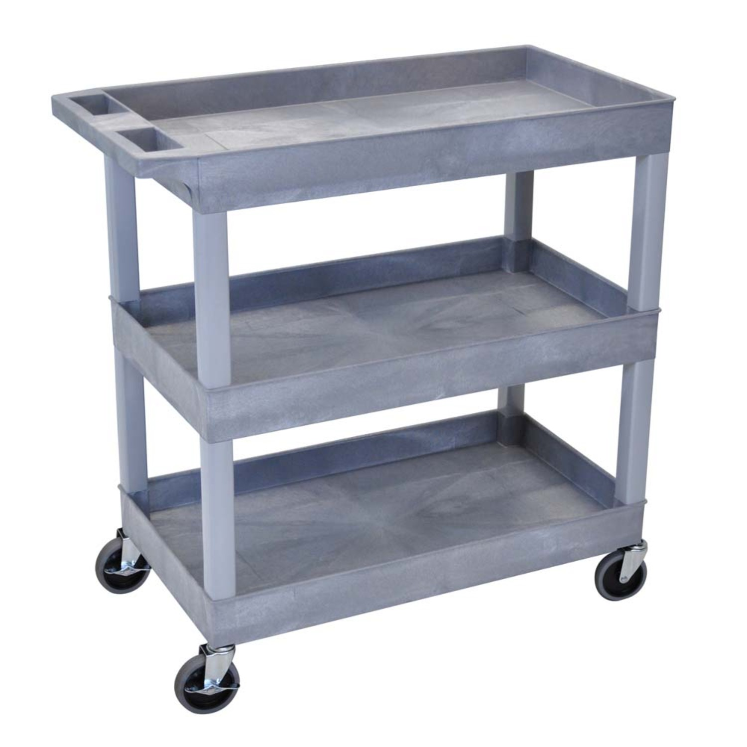 18 x 32 Tub Cart 3 shelves Gray