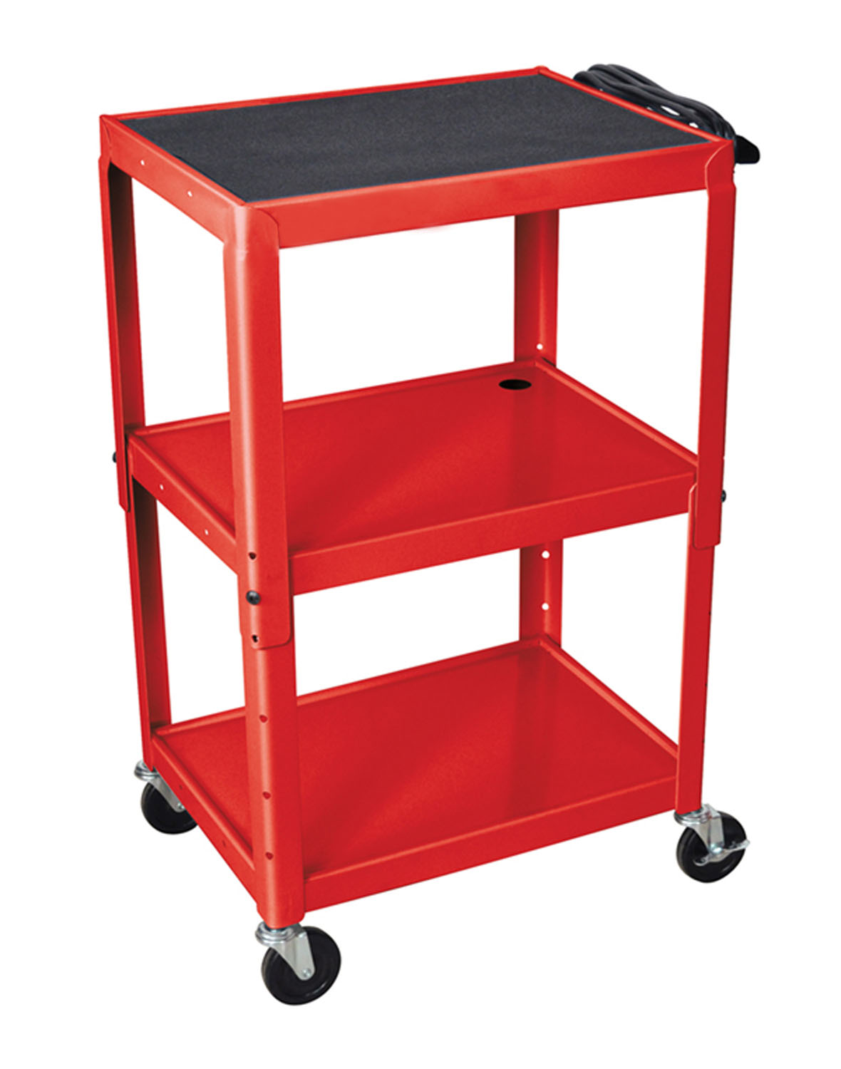 Luxor Red 42 Adjustable Table with 4 Casters