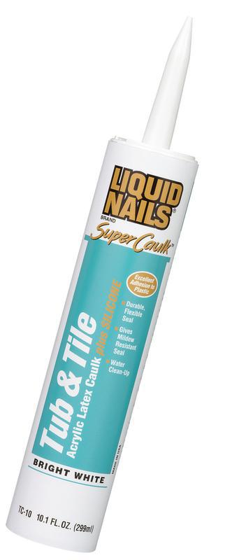TC-10 10.1Oz WH TUB/TILE CAULK
