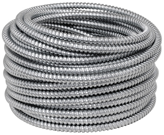 1/2 INCHES 50 FEET FLEXIBLE STEEL CONDUIT