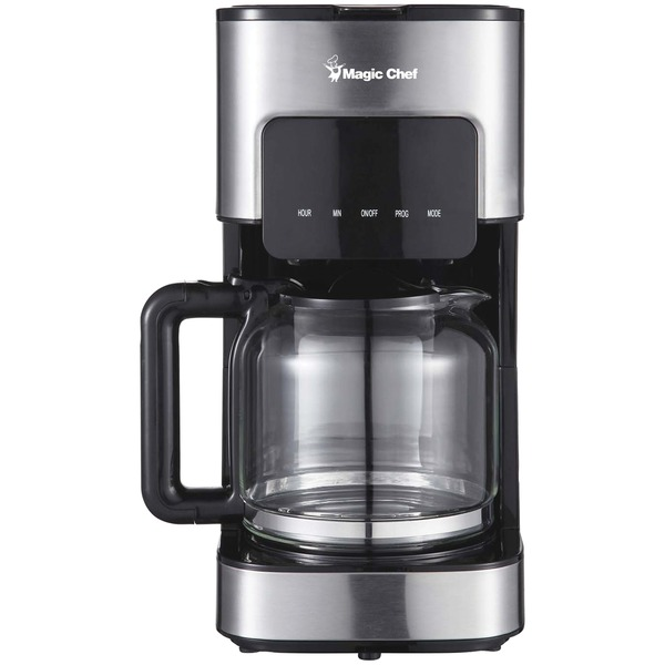 Magic Chef MCSCM12SS 12-Cup Programmable Coffee Maker