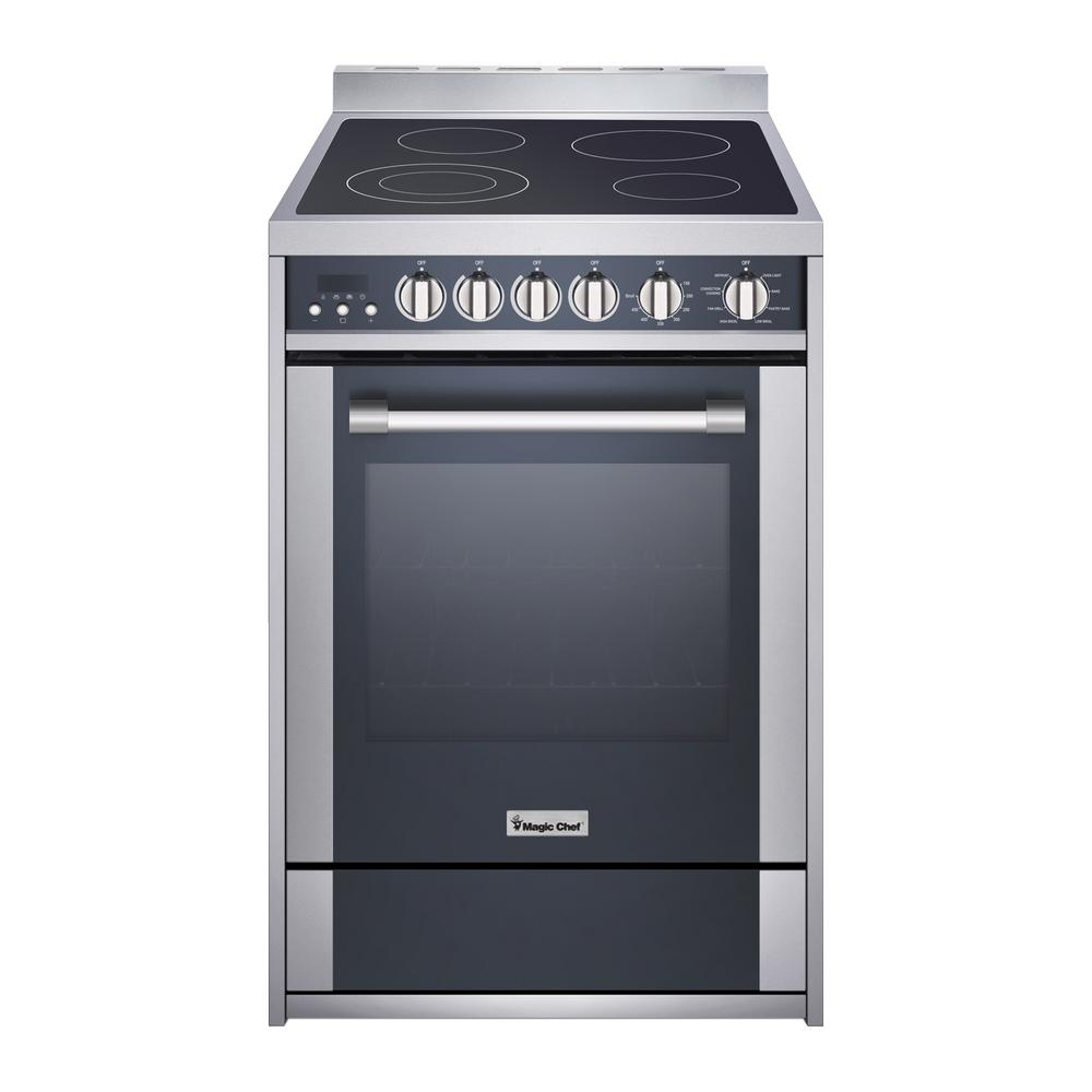 "24"" Electric Freestanding Range, Convection Oven"