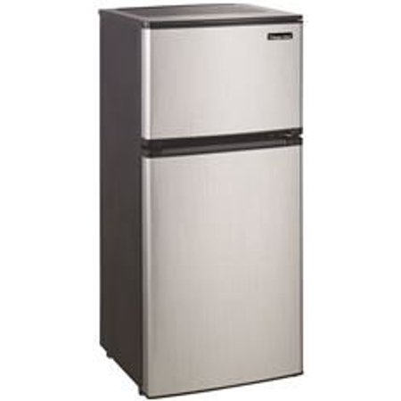 4.3 CuFt 2 Door Refrigerator, 1 CuFt Freezer Section, Manual Defrost