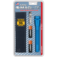 Mini Maglite M2A11H Combination Water Resistant Flashlight, 3 VDC, Incandescent, 6 hr