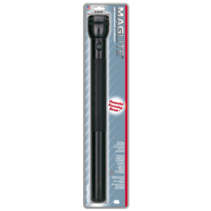 6 D Cell Flashlight, Black