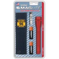MAGLITE SM2A03H 14-Lumen Mini MAGLITE Flashlight with Holster (Red)