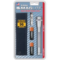 MAGLITE SM2A09H 14-Lumen Mini Flashlight with Holster (Gray)