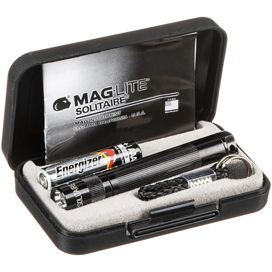 MAGLITE  SOLITAIRE AAA BLACK-GIFT BOX